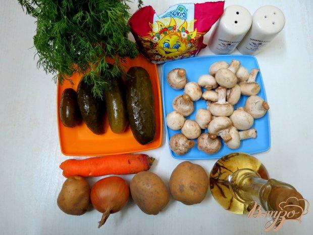 Рецепт Рассольник с рисом и грибами