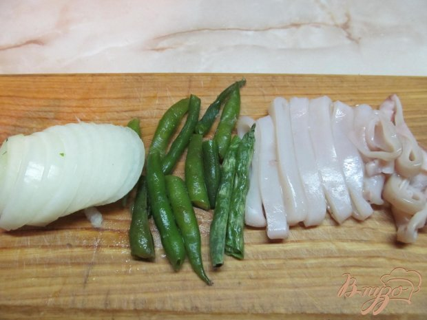 Рецепт Макароны с кальмарами