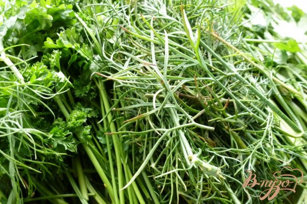 Рецепт Замороженная зелень для супов