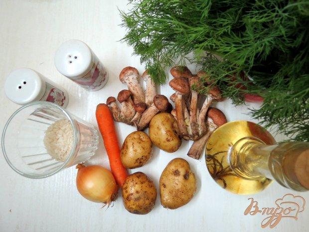 Рецепт Грибной суп с рисом