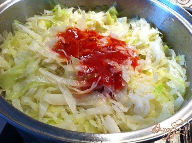Рецепт Солянка капустная с сосисками