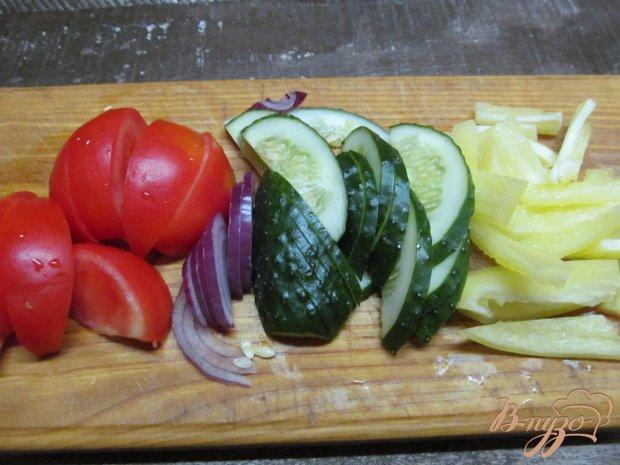 Рецепт Овощной салат под вустерским соусом с мятой и базиликом