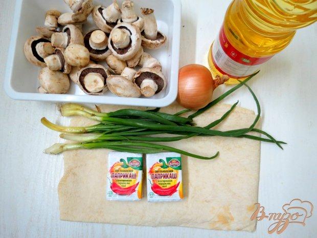 Рецепт Закуска из лаваша с грибами