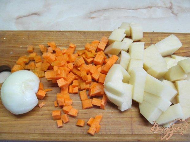 Рецепт Осенний суп с тыквой цветной капустой и бобовыми