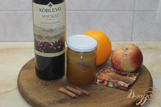 Рецепт Глинтвейн с яблоком и апельсином