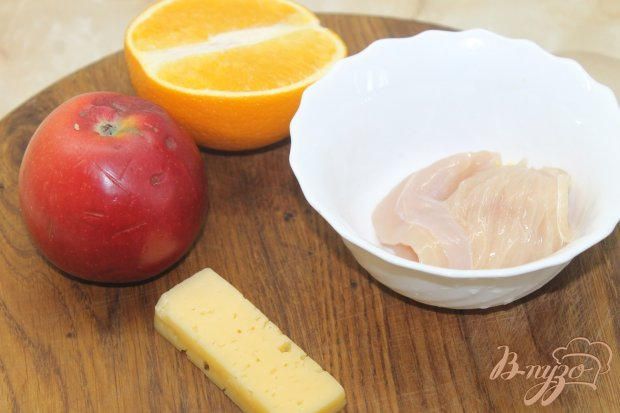 Рецепт Куриный салат с яблоком и апельсином