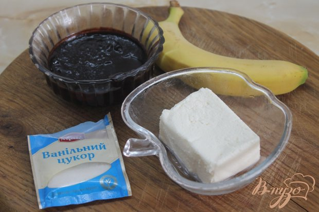 Рецепт Шоколадно - банановый творожный мусс
