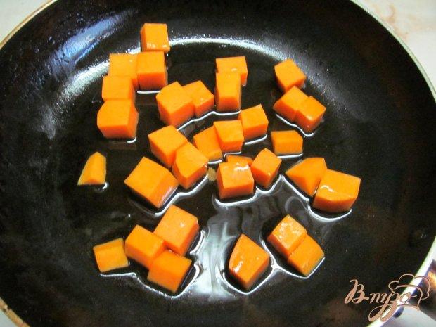 Рецепт Теплый салат с тыквой и куриной печенью