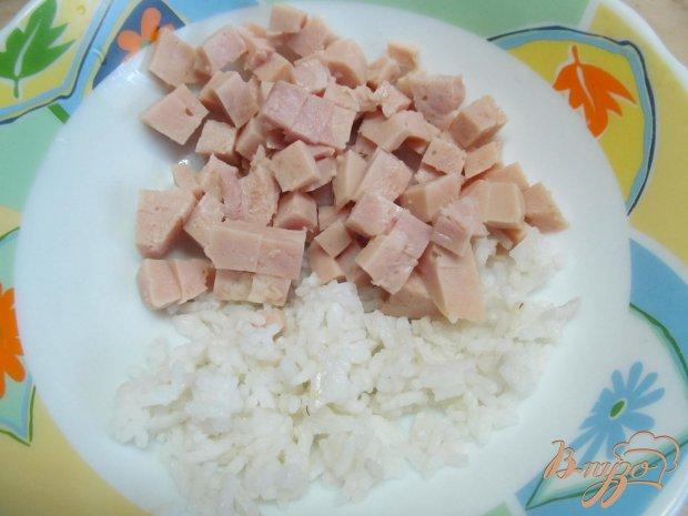 Рецепт Салат с рисом ветчиной и овощами