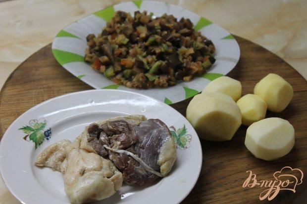 Рецепт Овощное рагу с утиным мясом