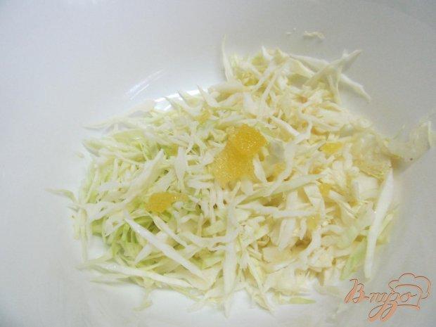 Рецепт Салат из капусты с шампиньонами