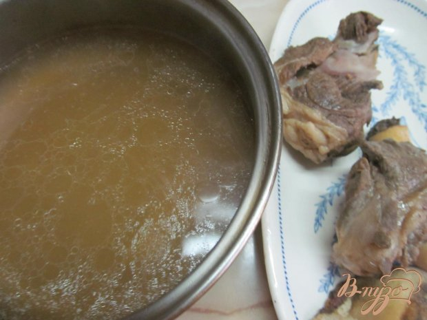 Рецепт Суп из баранины с фасолью и запеченными овощами