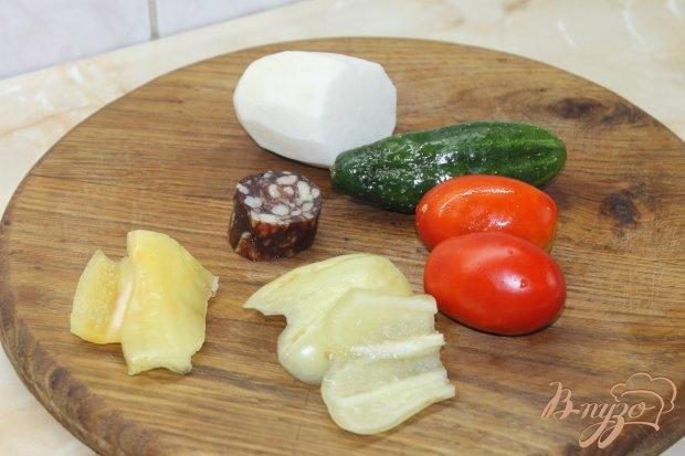 Рецепт Салат с редькой и свежими овощами