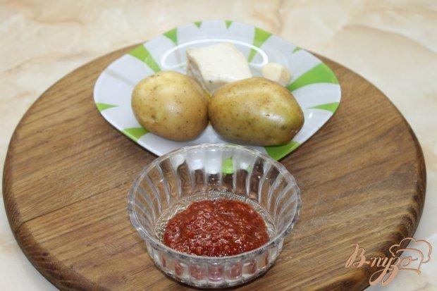 Рецепт Картофель запеченный с аджикой и салом