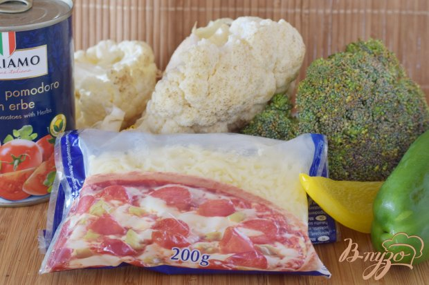 Рецепт Цветная капуста и брокколи под острым соусом из перцев