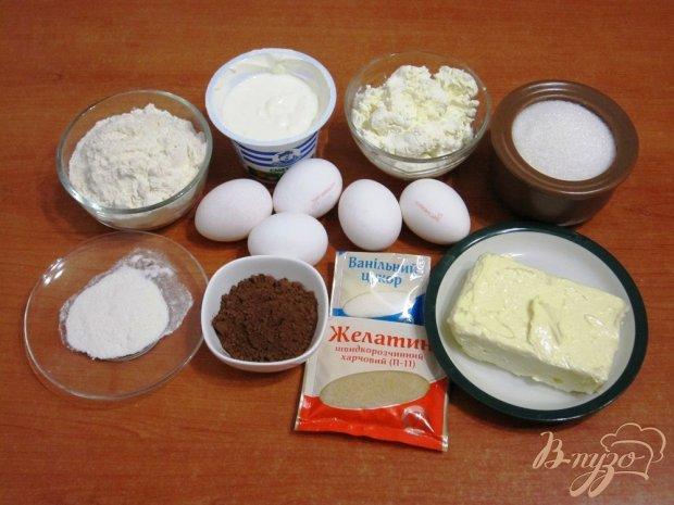 Рецепт Шоколадный кекс с кремом из творога
