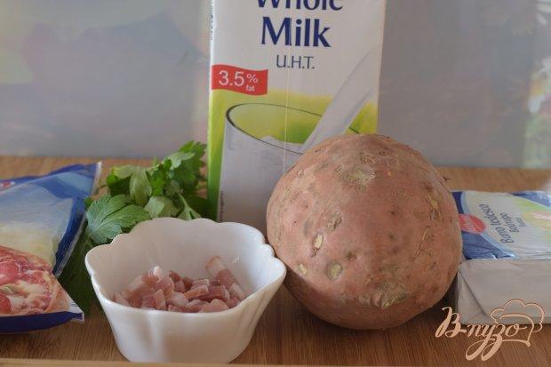 Рецепт Батат с сыром и беконом