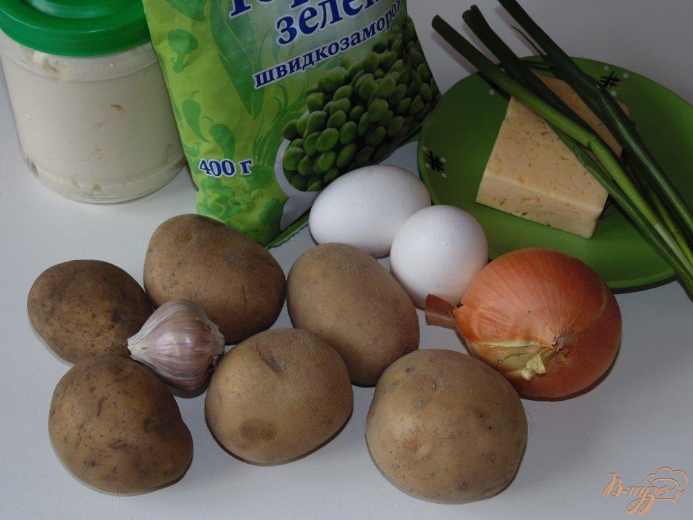 Рецепт Картофельная запеканка со свежим зеленым горошком