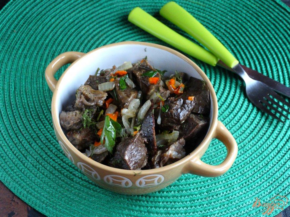 рецепт из говяжьего легкого салата на