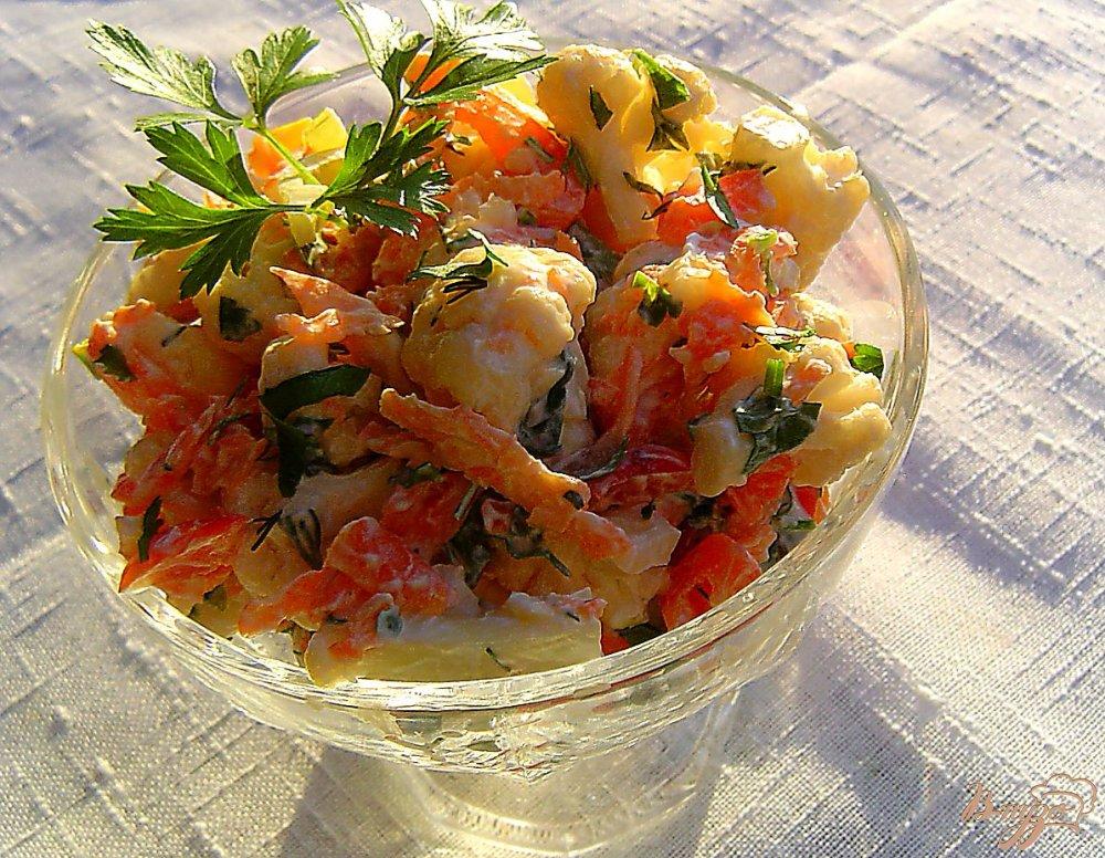 салаты с цветной капусты рецепты с фото