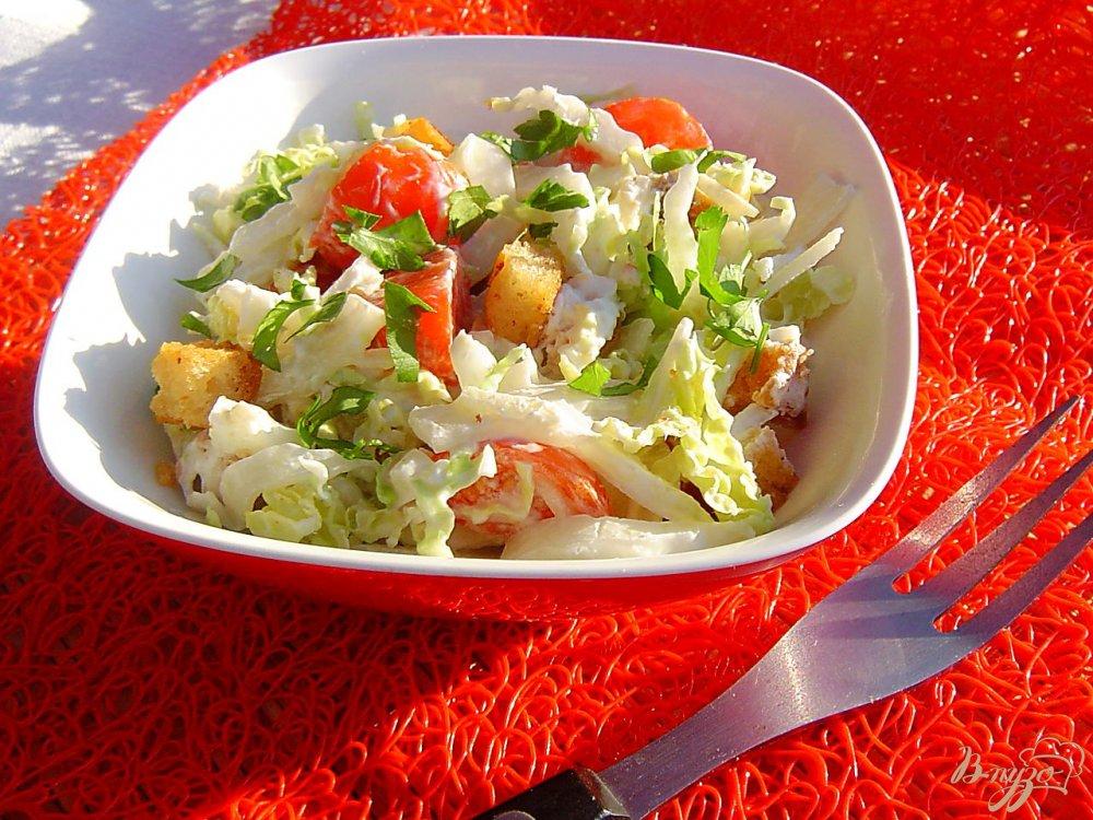 Салат с сухариками и пекинской капустой рецепт с очень вкусный