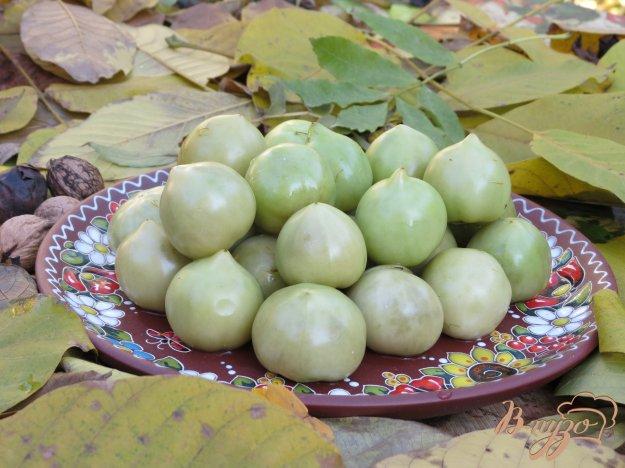 фото рецепта: Зелёные помидоры солёные