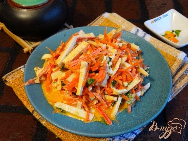 рецепты салатов с куриной грудкой и морковью по корейски