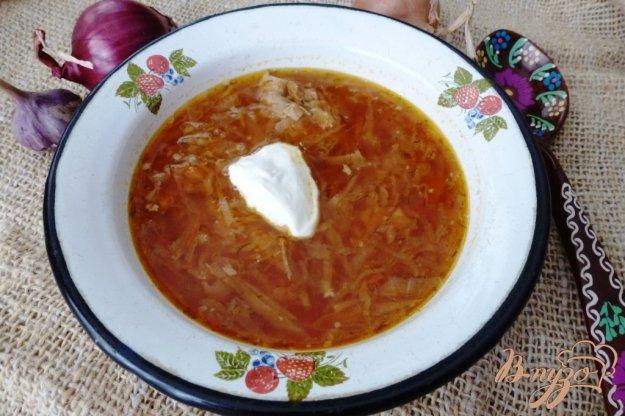 фото рецепта: Борщ со свежей и кислой капустой