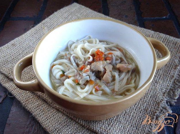 фото рецепта: Суп-лапша с соевой лапшой и тушенкой