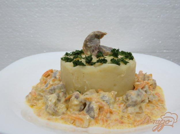 фото рецепта: Куриные желудочки в соусе