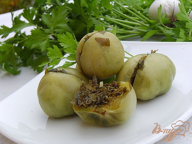 фото рецепта: Зеленые помидоры на зиму по-грузински