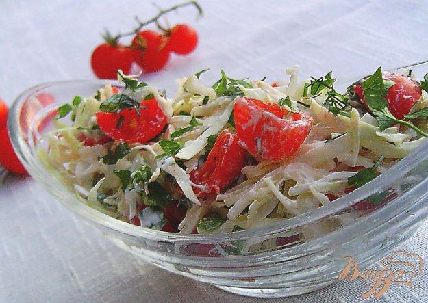 фото рецепта: Капустный салат с помидорами