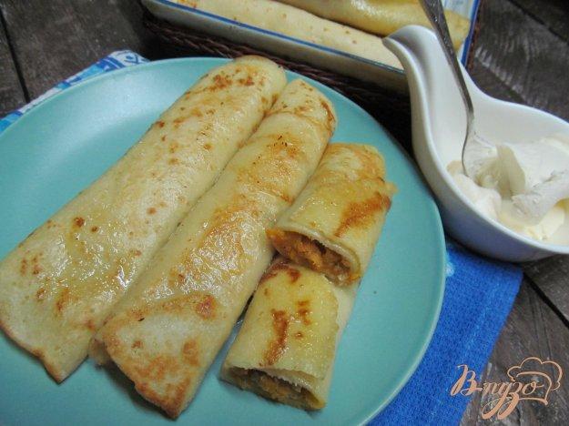 фото рецепта: Фаршированные блинчики свининой и овощами