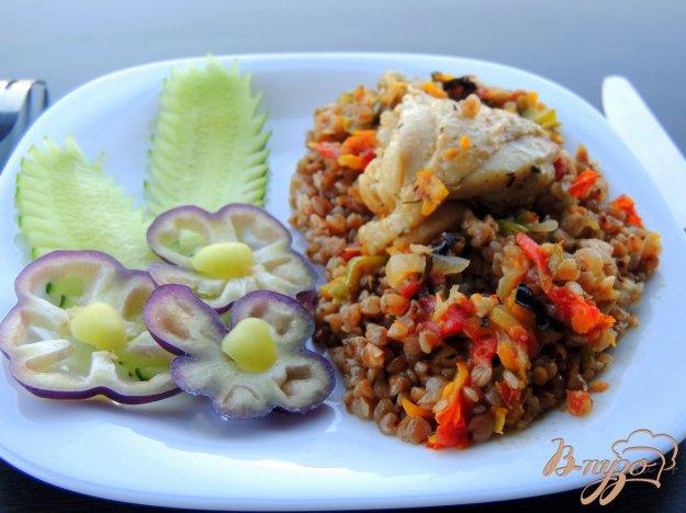 фото рецепта: Гречка с овощами и курицей
