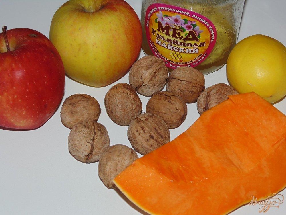 Рецепт Сладкий салат с тыквой и яблоком