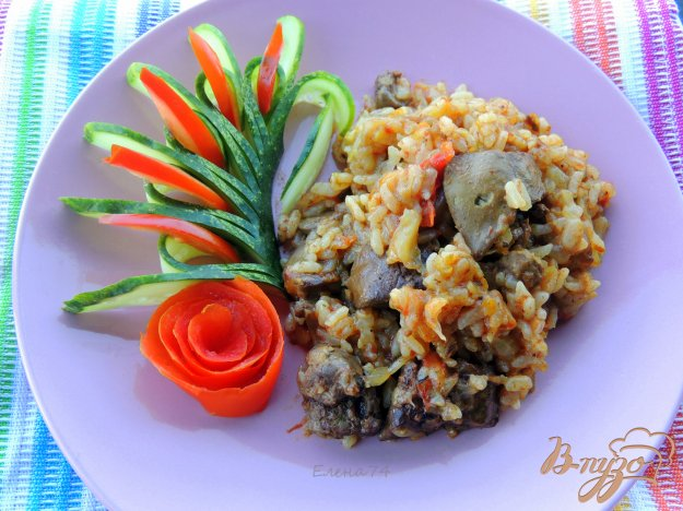 фото рецепта: Рис с печенью и овощами