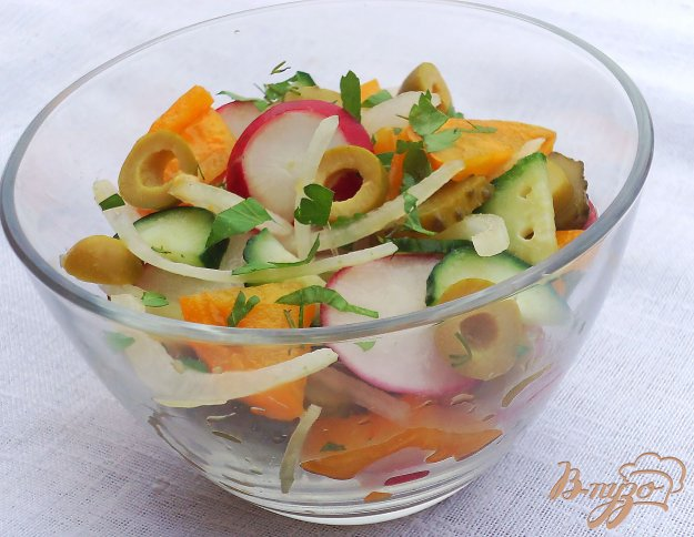 овощной салат с уксусом рецепт с фото