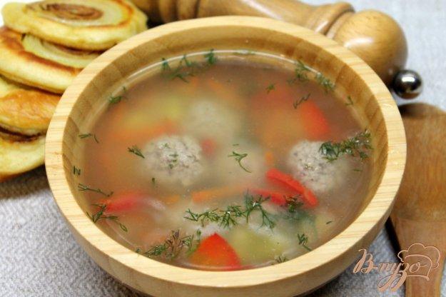 фото рецепта: Суп с фрикадельками и рисом