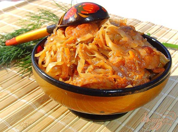 солянка из квашеной капусты с сосисками -рецепт