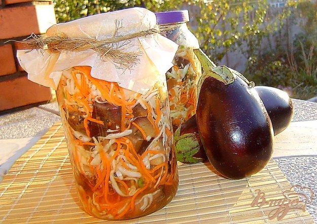 фото рецепта: Капуста с баклажанами на зиму