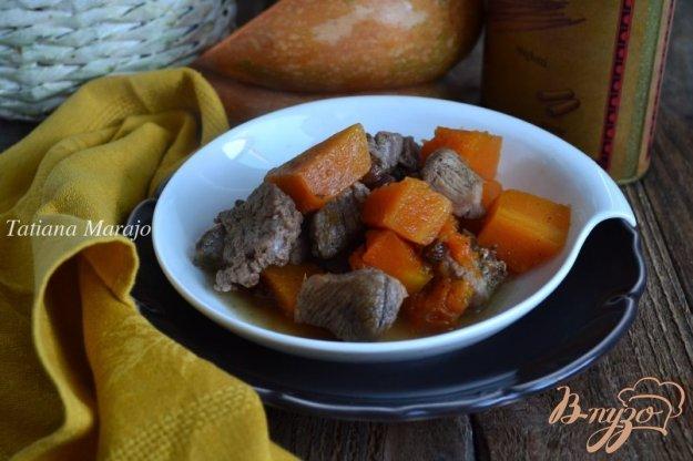 фото рецепта: Свинина с кусочками тыквы и изюмом