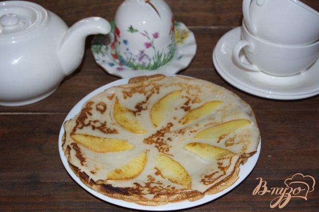 фото рецепта: Блины с яблочным припеком