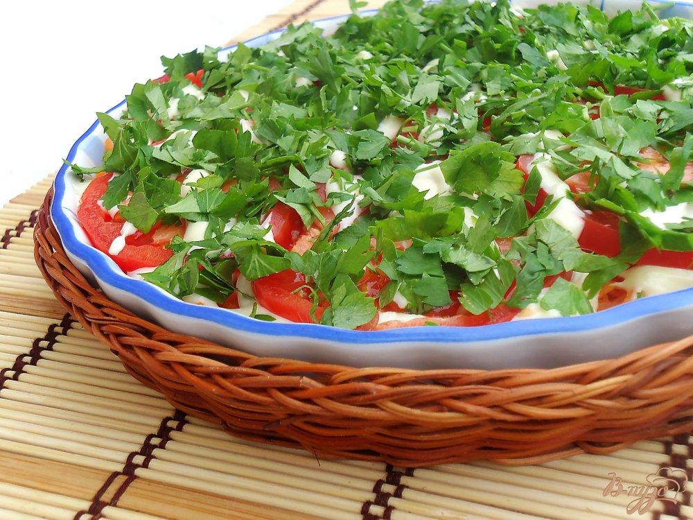 Салат из баклажанов моркови помидор и перца