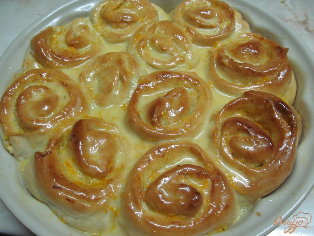 Апельсиновые булочки рецепт с фото