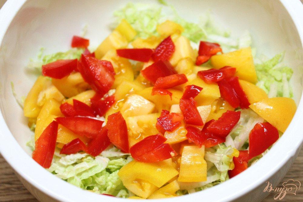салат из помидор огурцов перца капусты