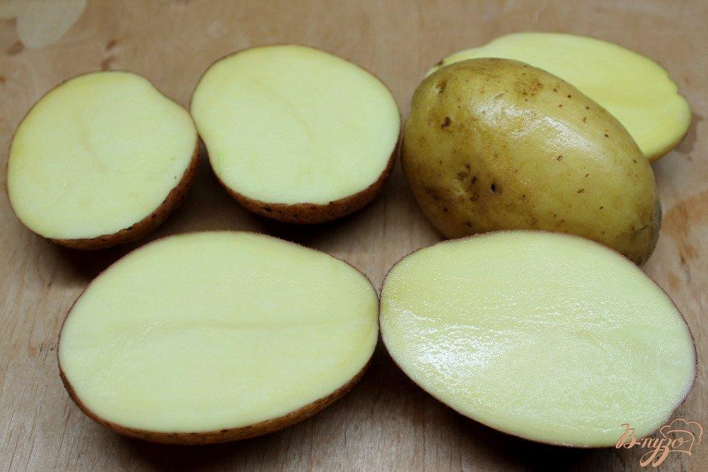 Рецепт Картофель запеченый с шафраном и сыром