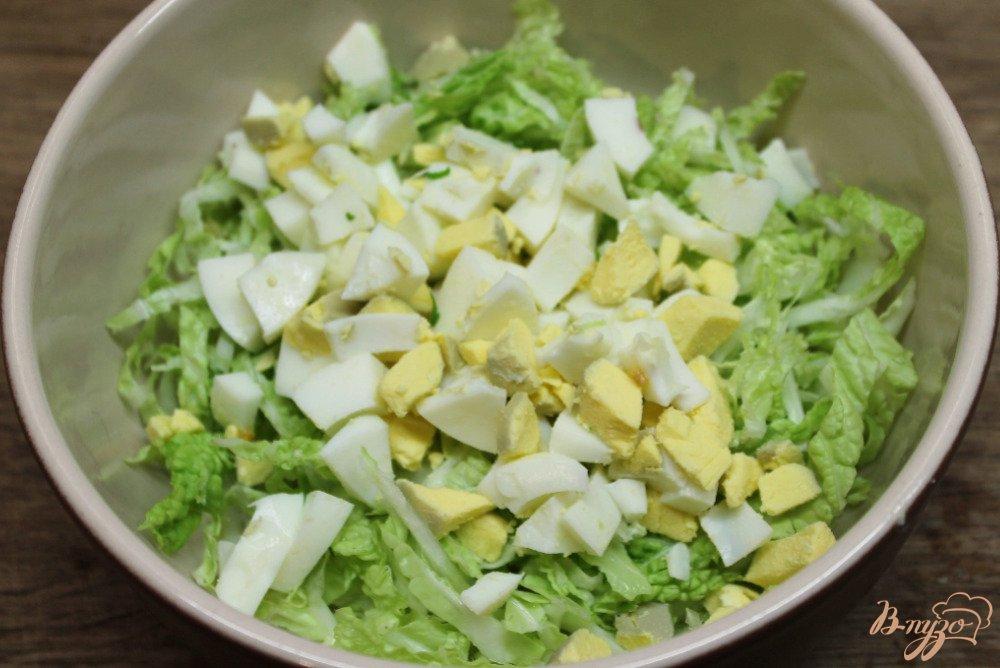салат с капустой и яйцом и сыром