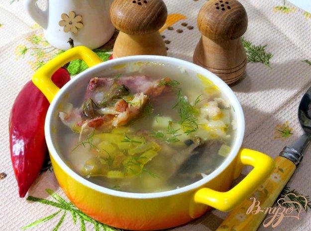 фото рецепта: Суп со свининой и опятами