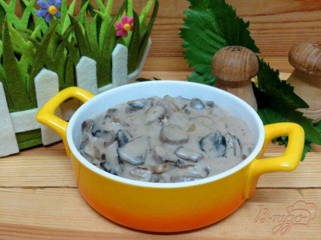 фото рецепта: Соус с шампиньонами и грибным порошком.
