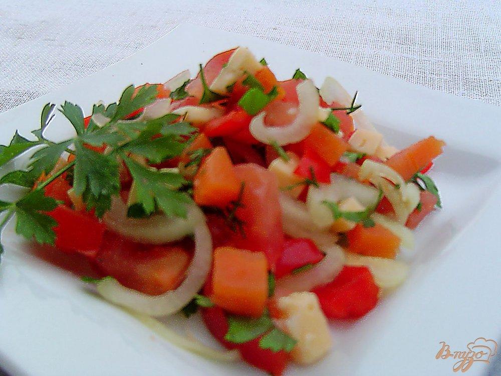 Рецепт салата из перца и сыра